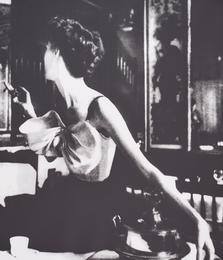 Lillian Bassman, 'Across the Restaurant, Barbara Mullen, dress by Jacques Fath, Le Grand Véfour, Paris,' 1949, Phillips: Photographs