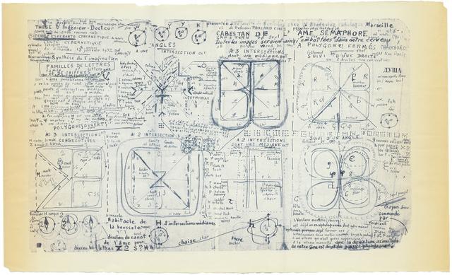 , 'untitled (cabestan de l'âme sémaphore),' 1971, christian berst art brut