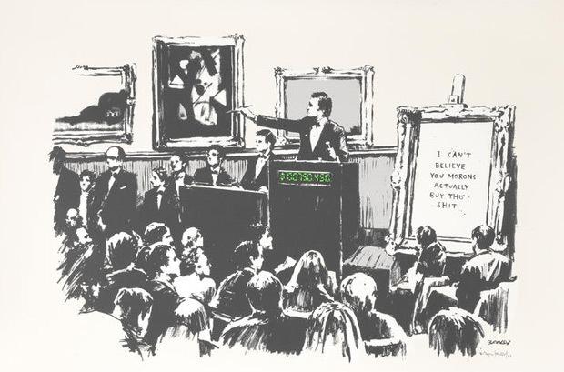 Banksy, 'Morons (White)', 2006, Taglialatella Galleries