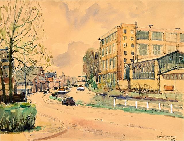 Jan Korthals, 'View of Antwerp', 1960, Millon Belgium