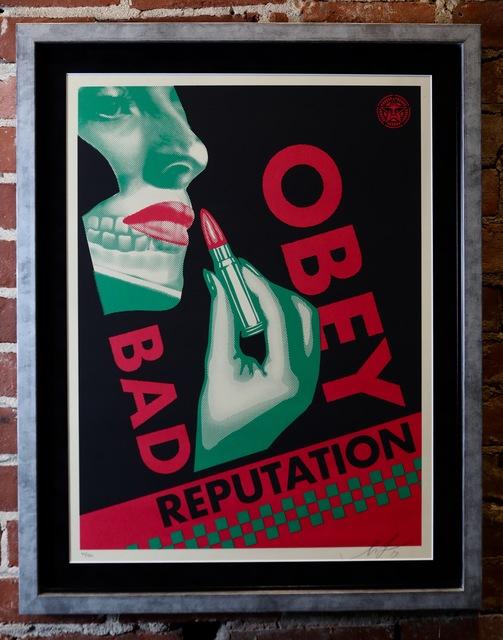Shepard Fairey, 'Bad Reputation (Black)', 2019, Mason-Nordgauer Fine Arts Gallery