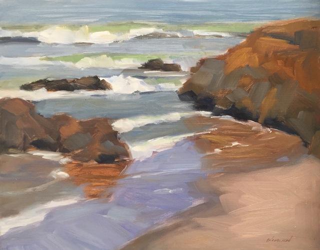 , 'Rock Reflections, Pescadero,' 2018, STUDIO Gallery