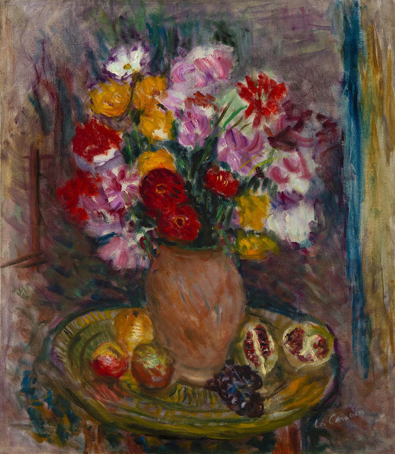 Charles Camoin, 'Nature morte au vase de fleurs et fruits', Unknown, HELENE BAILLY GALLERY