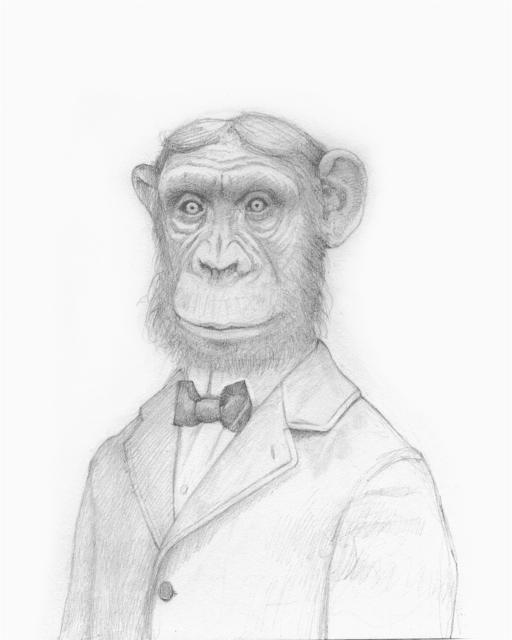 Travis Louie, 'Sam Sam, The Monkey Man', 2016, William Baczek Fine Arts
