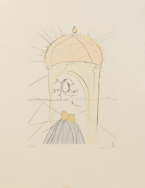 Salvador Dalí, 'After 50 Years of Surrealism (portfolio)', 1974, Print, Drypoint With Handcoloring, Hindman
