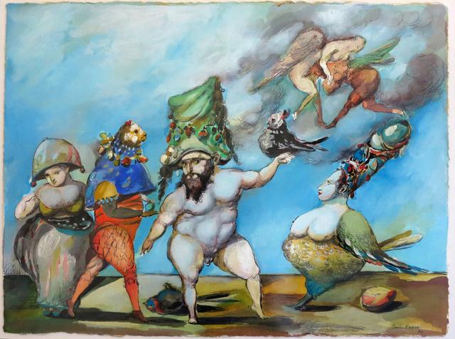 """Emil Kazaz, '""""Vale of Bird"""" / """"Kuşlar Vadisi""""', 1996, Galeri 77"""
