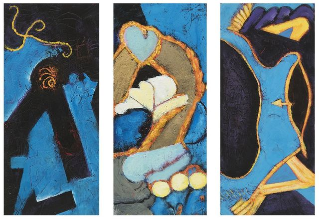 , 'The Heaven Hole, Whale Gold, Bow Gold Wing Black(From left to right),' 2005, 2004, 5, 2006(From left to right), Hollis Taggart Galleries