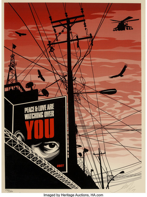 Shepard Fairey (OBEY), 'Big Brother City', 2007, Heritage Auctions