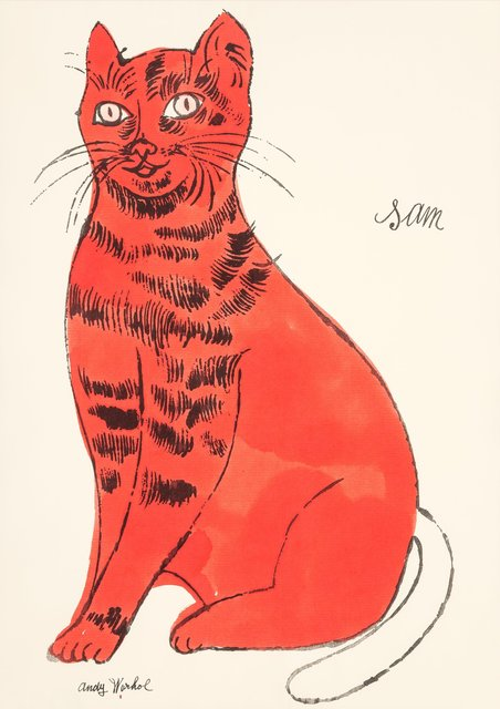 Andy Warhol, 'Sam, from 25 Cats Named Sam and One Blue Pussy', ca. 1954, Heritage Auctions