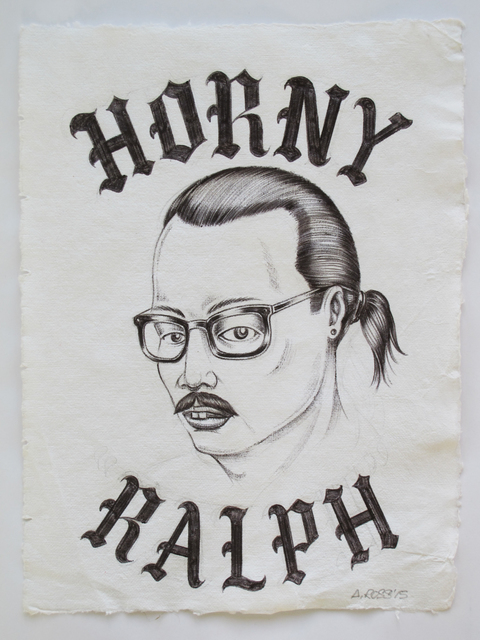 Alexis Ross, 'Horny Ralph', 2015, Drawing, Collage or other Work on Paper, Ball point pen on cotton rag paper, V1 Gallery