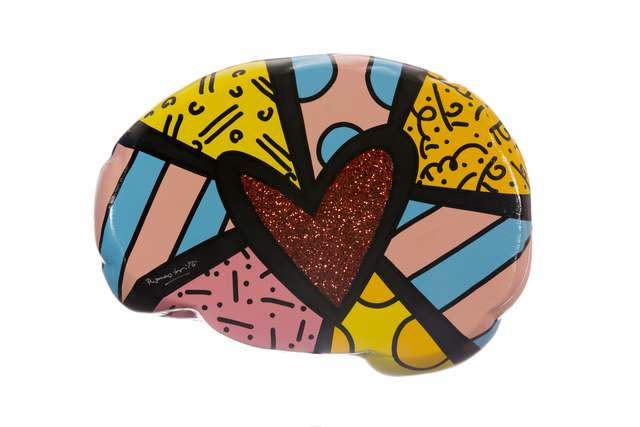 Romero Britto, 'Beautiful Mind', 2019, The Yogen Früz Pinkberry Brain Project