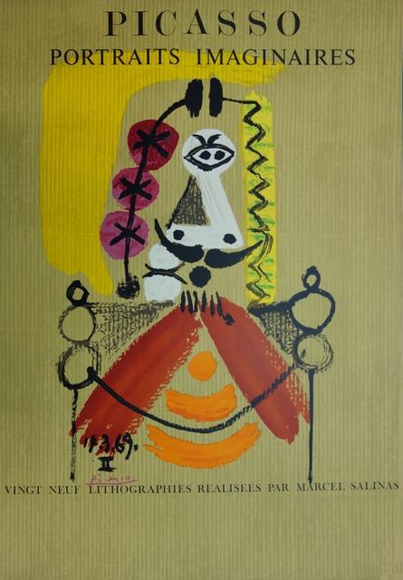 Pablo Picasso, 'Imaginary Portrait, Man with mustache', 1971, Plazzart