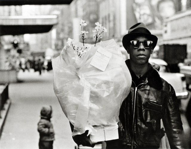 , 'Flower Messenger, Times Square,' 1955, Bruce Silverstein Gallery