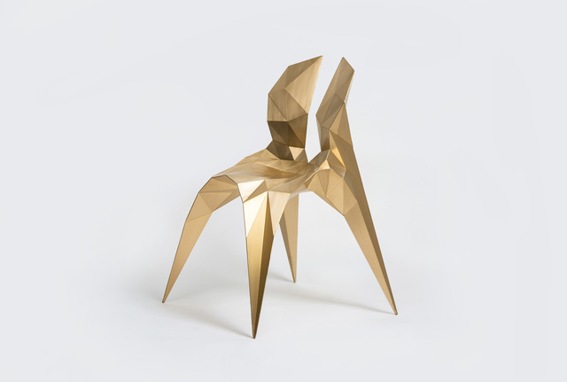 Zhoujie Zhang, 'Split Chair (SQN3-A) Brass', 2014, Gallery ALL