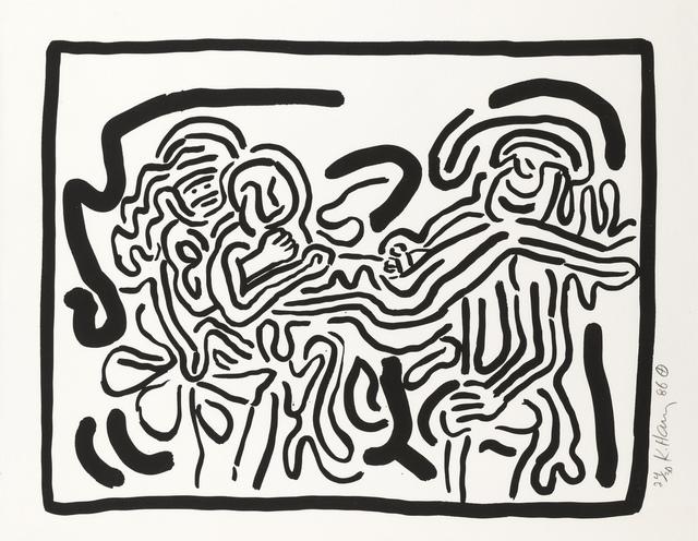 Keith Haring, 'Bad Boys, One plate (Littmann p.57)', 1986, Forum Auctions