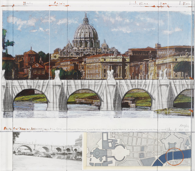 , 'Ponte Sant'Angelo, Wrapped (Project for Rome),' 2011, Zane Bennett Contemporary Art