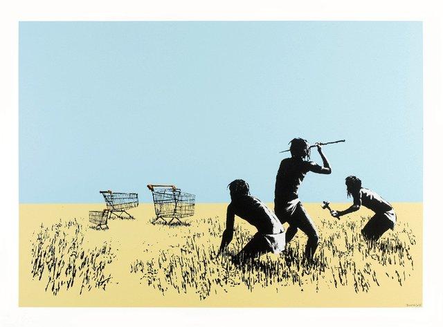 Banksy, 'Trolleys (Color- Signed)', 2007, JG Contemporary