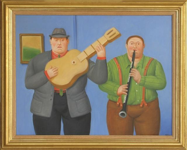 Fernando Botero, 'Dos Musicos (Two Musicians) ', 2014, Tasende Gallery