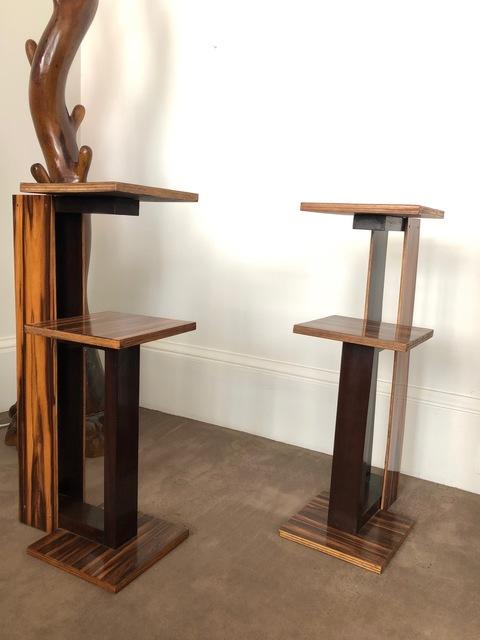 """André Sornay, 'Paire de tables dites """"fumeur""""', ca. 1935, Design/Decorative Art, Macassar ebony, Galerie Laurent Dubois"""