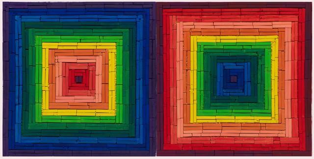 , 'Metachrome (Double Scramble, after Frank Stella),' 2016, Ben Brown Fine Arts