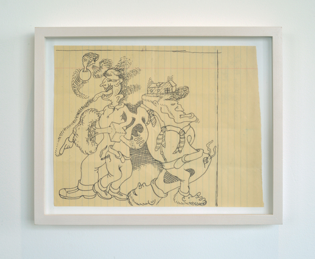 Peter Saul, 'Untitled', 1995, Ink on Lined Paper, LAXART