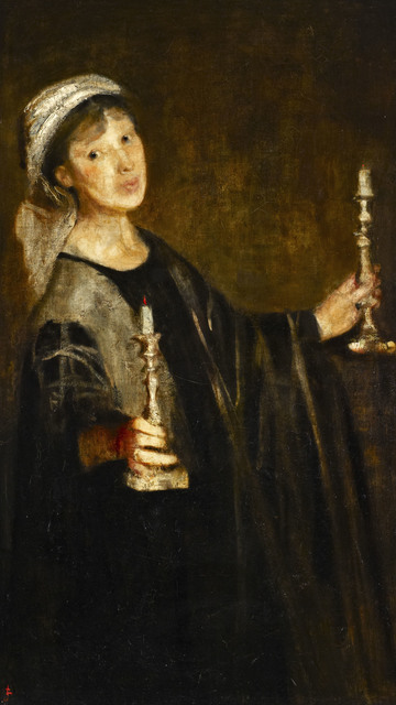 , 'Self Portrait with candles,' ca. 1906, Ben Uri Gallery and Museum
