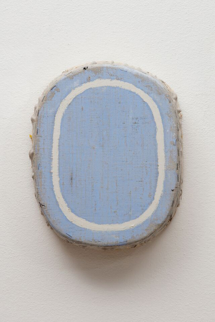, 'Blue with Ivory Oval,' 2015, William Campbell Contemporary Art, Inc.