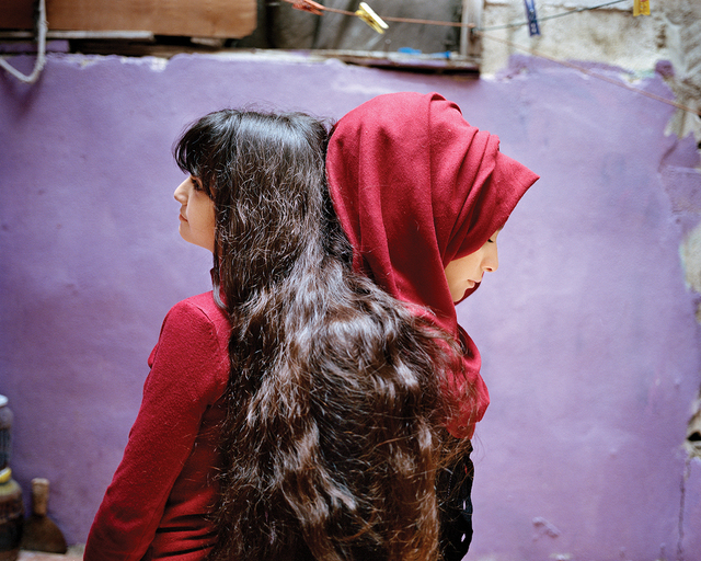 , 'Sara and Samira, Bourj El Barajneh Refugee Camp, Beirut, Lebanon,' 2018, Robert Klein Gallery