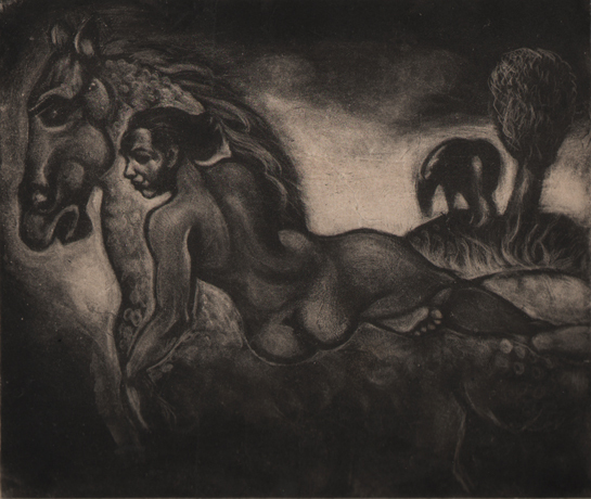 , 'Figure on a Horse ,' c. 1940'-50's, Dolan/Maxwell