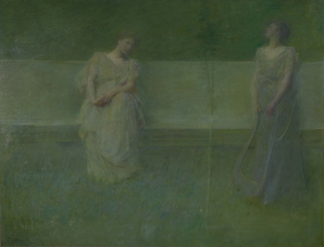 Thomas Wilmer Dewing, 'The Song', 1891, Colby College Museum of Art