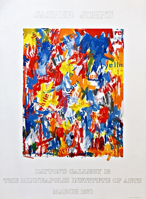 Jasper Johns, 'Dayton's Gallery 12 - The Minneapolis Institute of Arts Exhibition (from the collection of Aviva and Jacob Bal Teshuva)', 1971, Alpha 137 Gallery