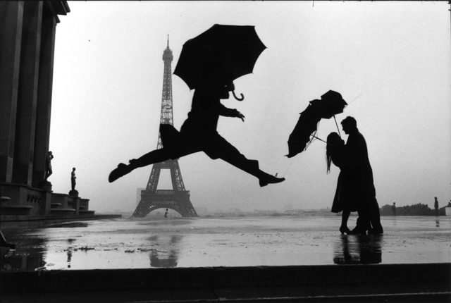 , 'Paris, France (umbrella jump),' 1989, Holden Luntz Gallery