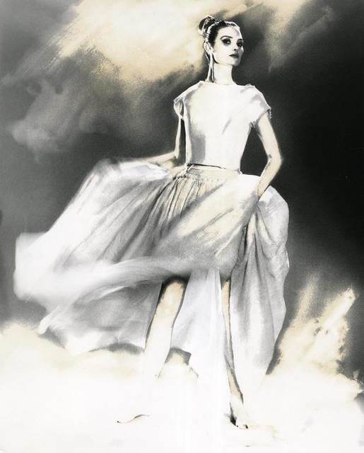 Lillian Bassman, 'In Full Swing, Shalom Harlow, skirt and sweater by Oscar de la Renta', 1998, Edwynn Houk Gallery