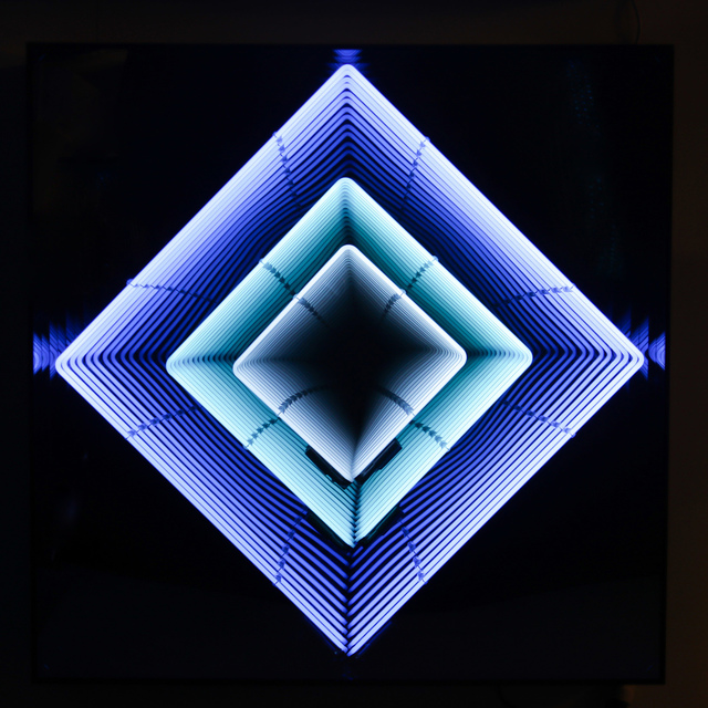 Emmanuelle Rybojad, 'Tableau Néon losange : turquoise / bleu ciel / blanc', Bel-Air Fine Art