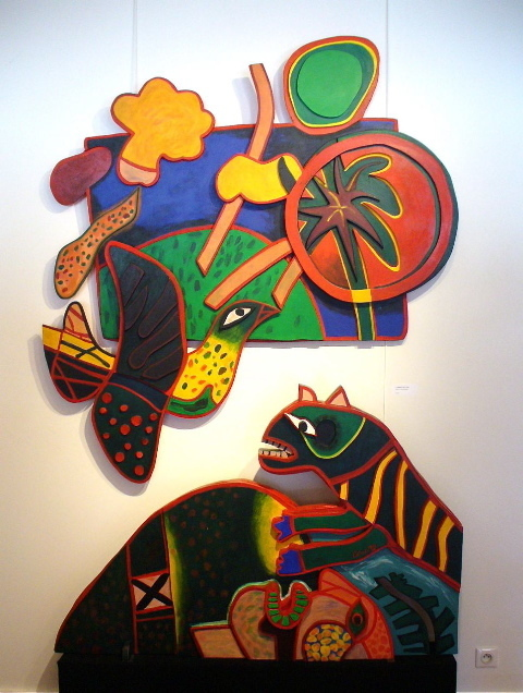 Guillaume Corneille, ' Tryptique Serpent ', 1980, Galerie Cortade Art