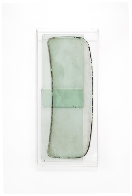 Anneke Eussen, 'Now (01)', 2021, Sculpture, 3 time stained car panes mounted on wood in plexibox frame, Tatjana Pieters