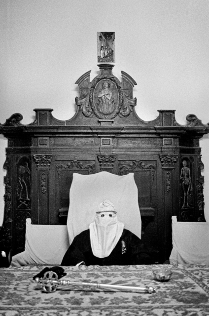, 'Hooded before the procession, Palermo,' 1977, ILEX Gallery