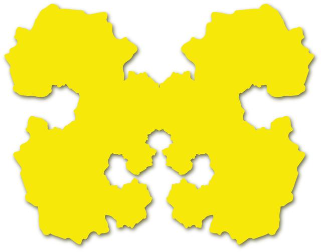, 'Rorschach Portrait (yellow),' 2010, Michael Fuchs Galerie
