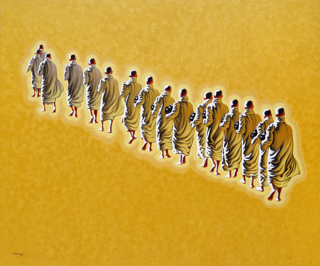 Min Wae Aung, 'Novices on the morning round (1)', 2015, Tanya Baxter Contemporary