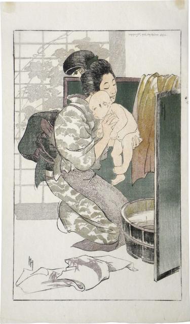 Helen Hyde, 'The Bath', 1905, Scholten Japanese Art