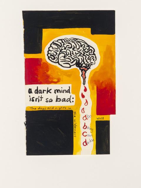 Gordon Bennett, 'Notepad Drawings: A Dark Mind Isn't So Bad', 1987, Contemporary Art Gallery
