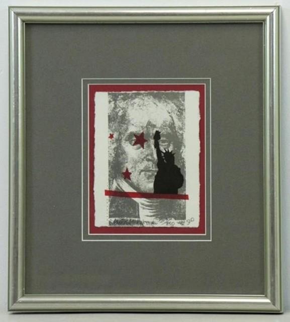 Robert Rauschenberg, 'Spackle (for Harvey Gantt)', 1990, Print, Lithograph in colors on HMP Koller handmade cream paper, Alpha 137 Gallery Gallery Auction