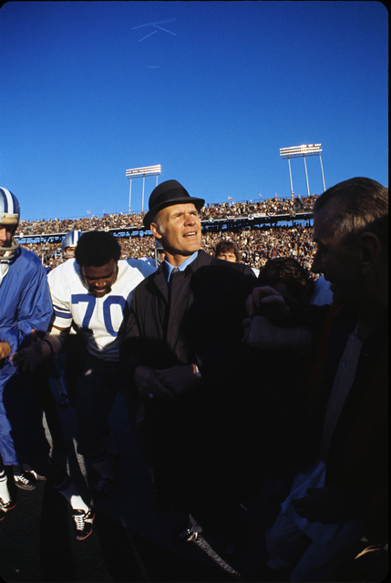 Neil Leifer, 'Tom Landry with Blue Sky, Super Bowl VI, Dallas Cowboys vs. Miami Dolphins, New Orleans, LA', 1972, PDNB Gallery