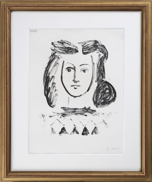 Pablo Picasso, 'Buste de jeune fille', 1947, Odon Wagner Gallery