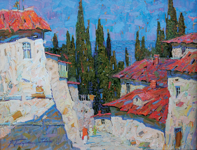 , 'Cypress and Blue,' 2010, Paul Scott Gallery & galleryrussia.com