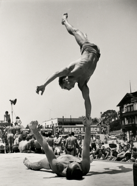 , 'Two Men Doing a Handstand,' 1954, Bruce Silverstein Gallery