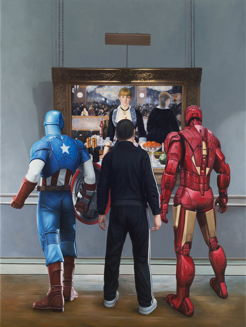 , 'Ironman, Captain America and a Russian Mobster Walk Into a Bar,' , Melissa Morgan Fine Art