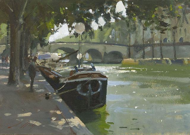 Paul Rafferty, 'River Boats on the Seine', 2015, Portland Gallery
