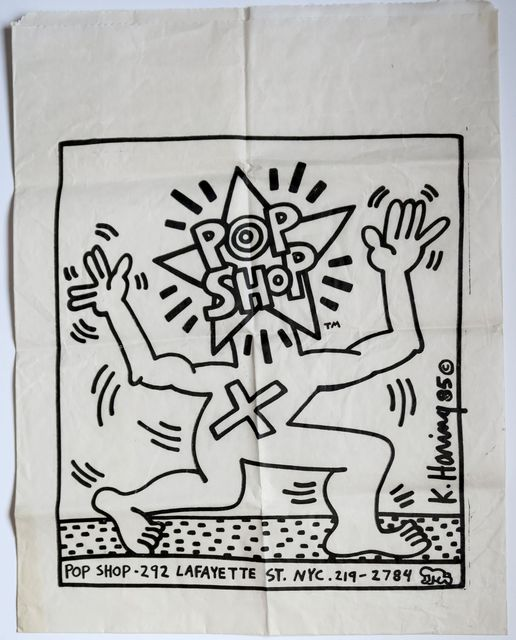 Keith Haring, 'Pop Shop shopping bag', 1986, Alternate Projects