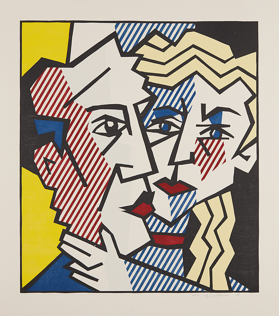 Roy Lichtenstein, 'The Couple, from Expressionist Woodcut Series', 1980, Print, Woodcut and embossing in colors, on Arches Cover paper, with full margins., Phillips